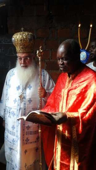 Archbishop Makarios Visited Our Sister School-St. Nicholas Orthodox School, Kenya!